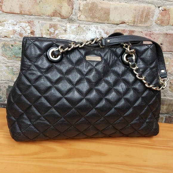 kate spade Handbags - Kate Spade brown leather quilted bag